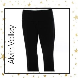 Alvin Valley Black Flat Front Straight Pants 2